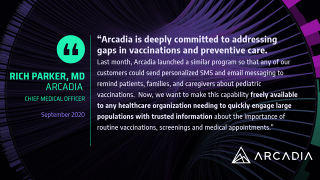 Rich Parker MD on why Arcadia is making Outreach available to non-customers at no cost